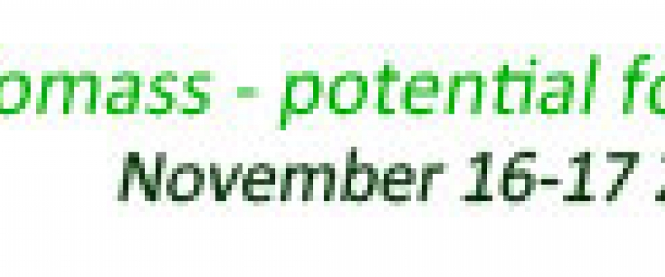 BIOMASS - potential for growth, November 16th and 17th, 2017
