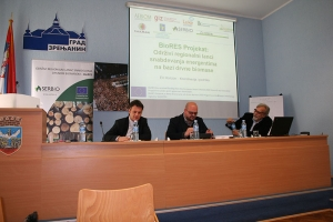 "A workshop on ""Sustainable use of biomass and Biomass Logistic Centres"" held in Zrenjanin"